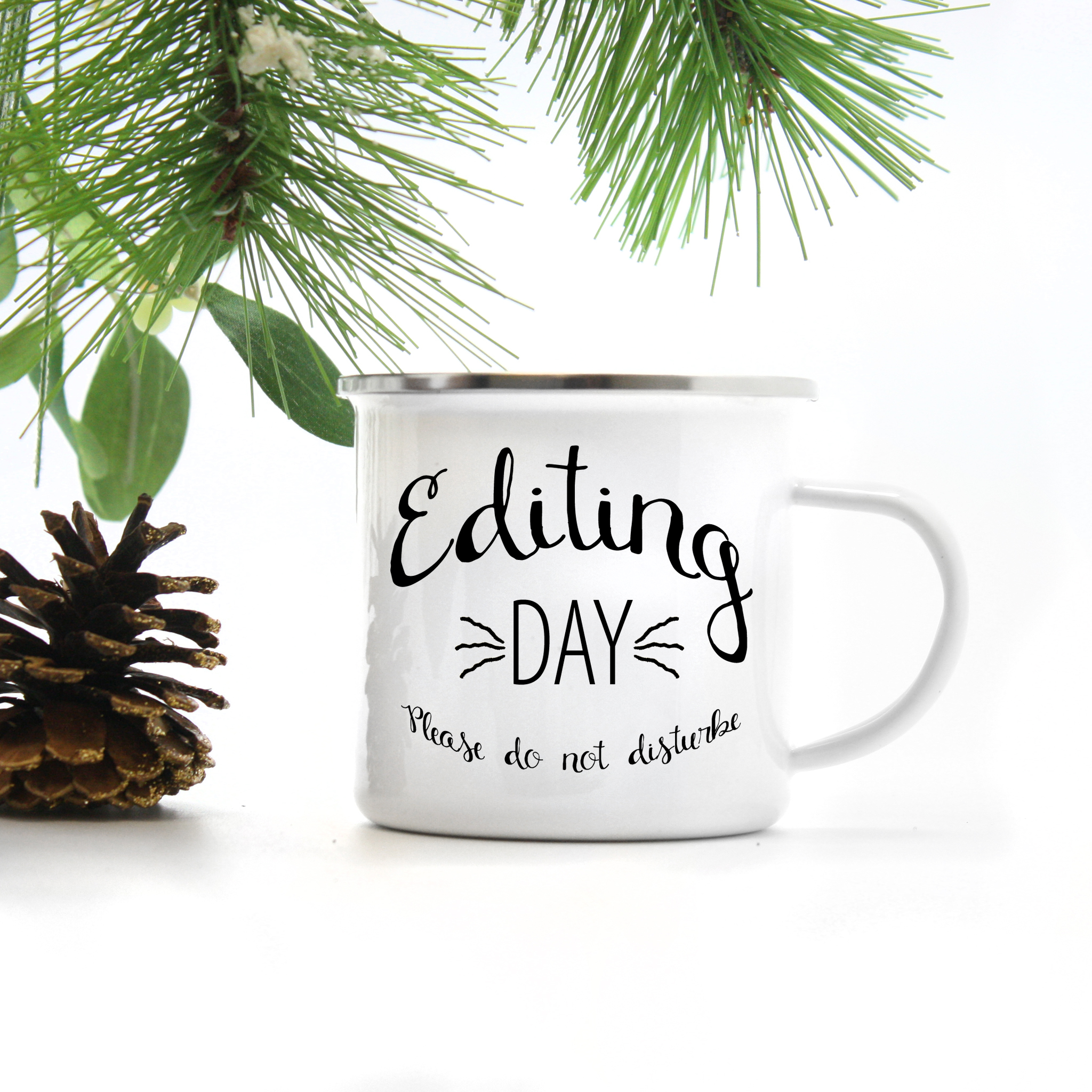 Coffee Mug for a photographer by Bessie Young Photography - Metal Camp Mug - Metal Coffee Mug