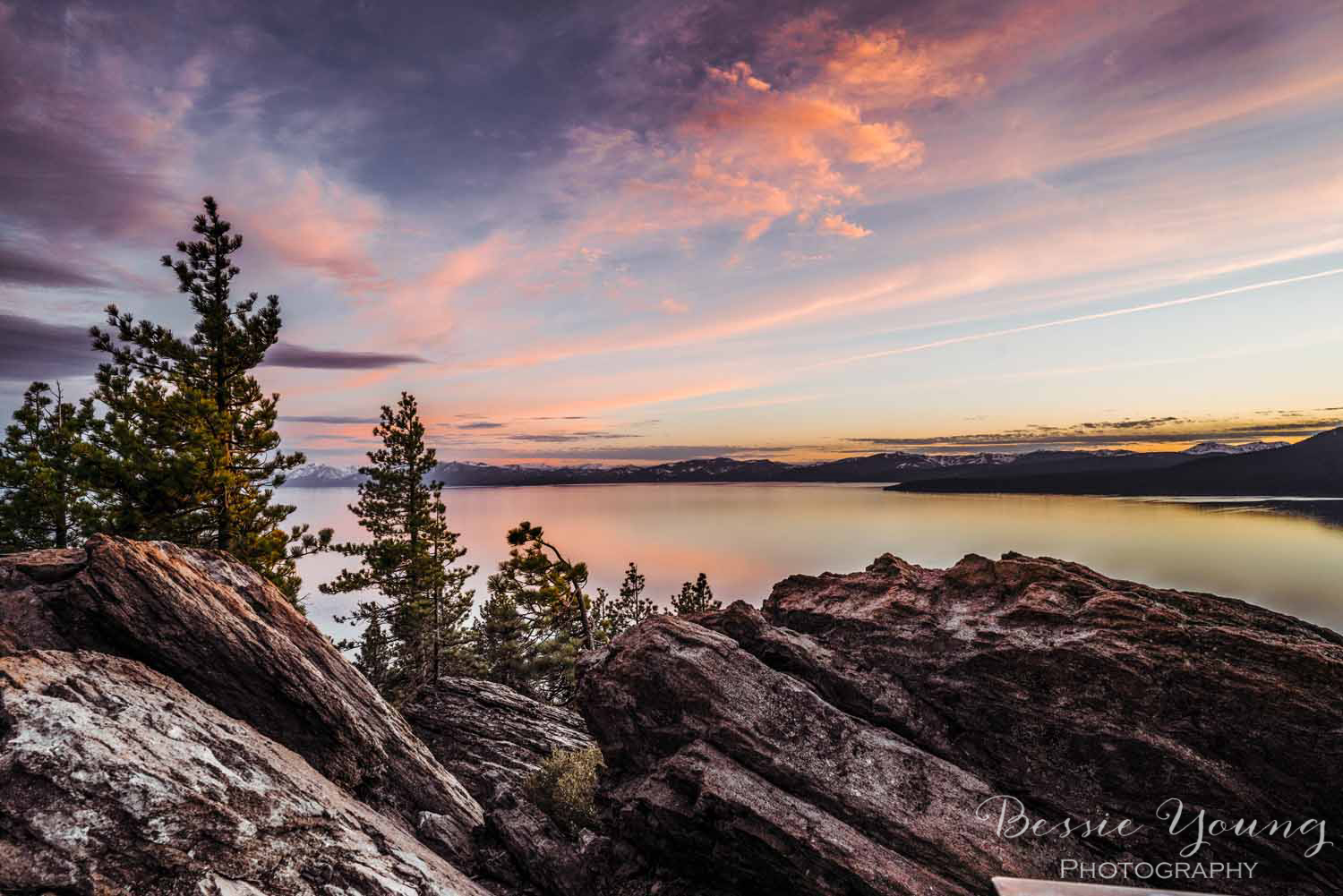 Lake Tahoe sunset photograph by Bessie Young Photography 2018 - Incline Village Photograph - rustic kitchen inspiration - rustic living room inspiration - Entryway decor.jpg