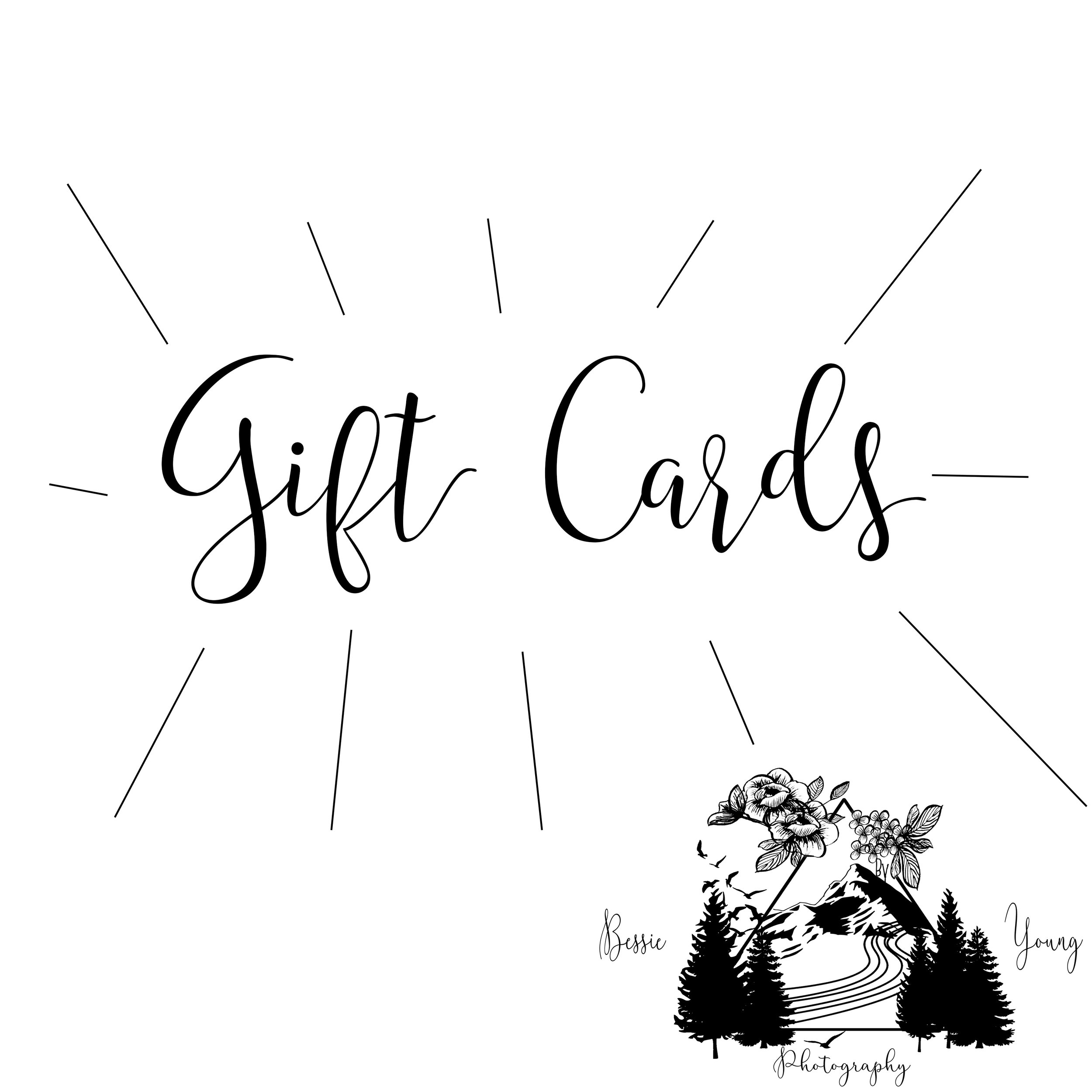 Gift Cards for Bessie Young Photography
