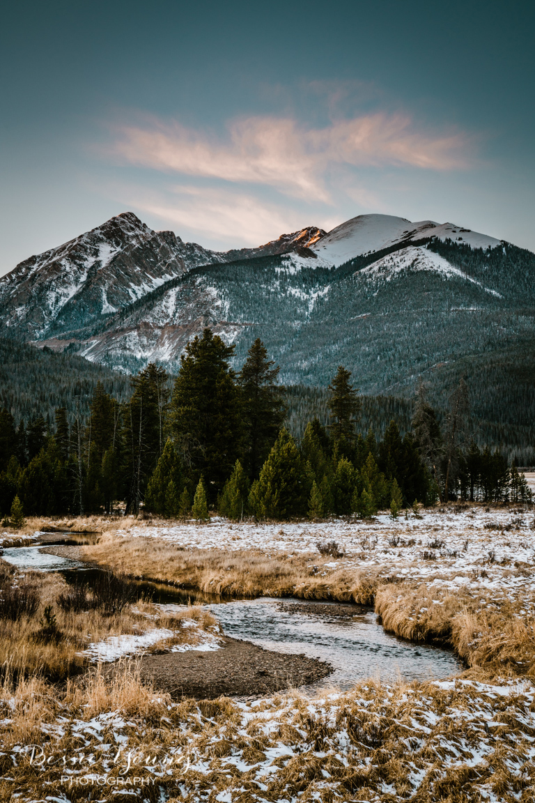 Rocky Mountain National Park Sunset Landscape Photography by Bessie Young