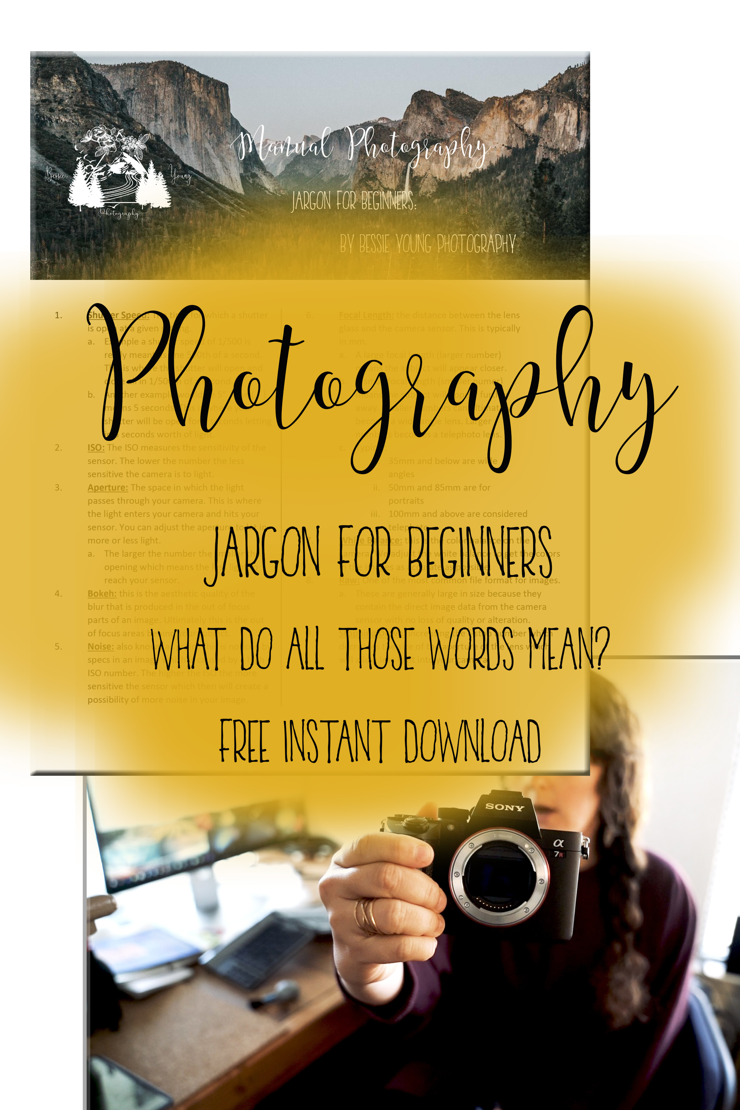 Manual Photography Jargon for Beginners by Bessie Young Photography - Free Downloadable guide photography cheat sheet.jpg