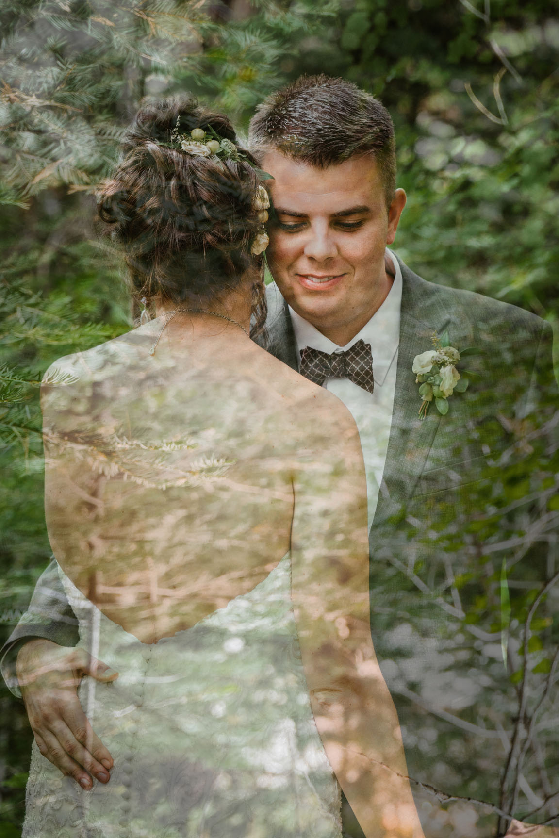 Double Exposure Inspiration by Bessie Young Photography - Mountain Wedding Inspiration