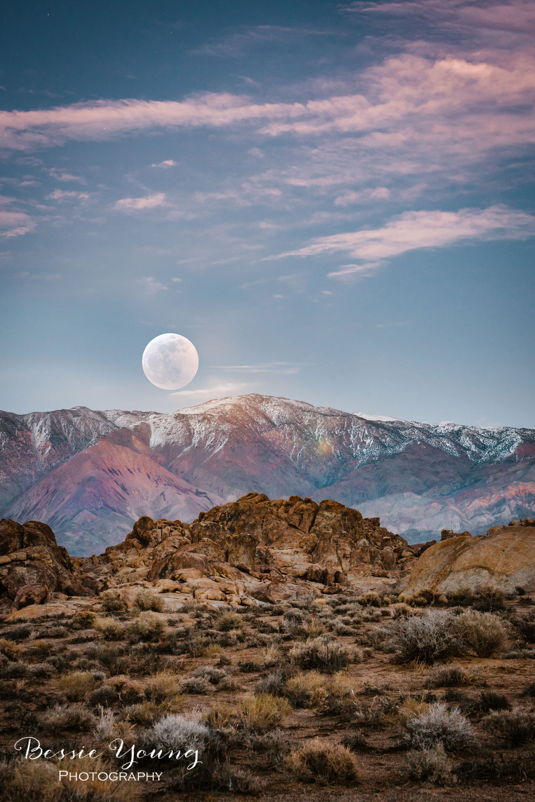 Rising Super Blood Wolf Moon January 2019 by Bessie Young Photography Landscape Photography