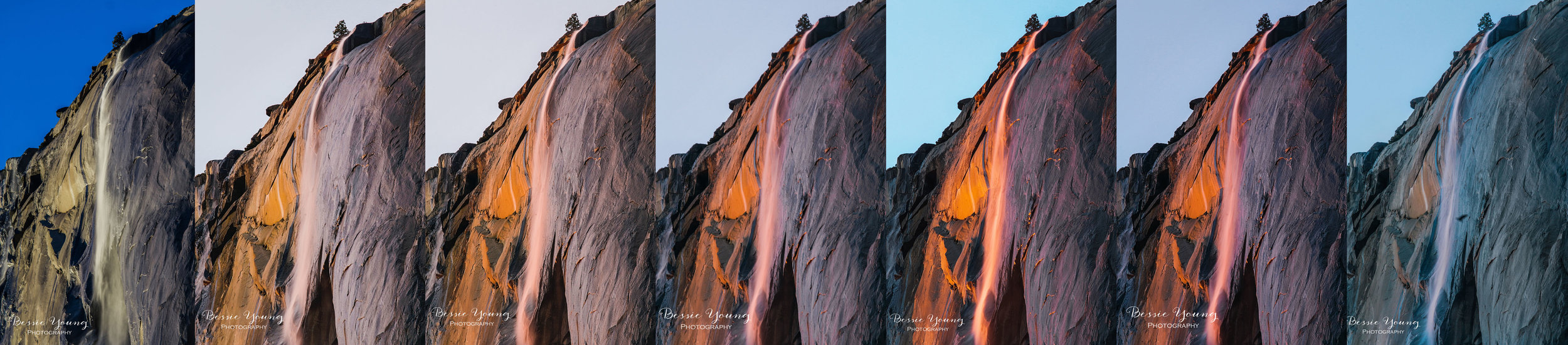 Yosemite Firefall Series - Yosemite National Park Landscape Photographer Bessie Young