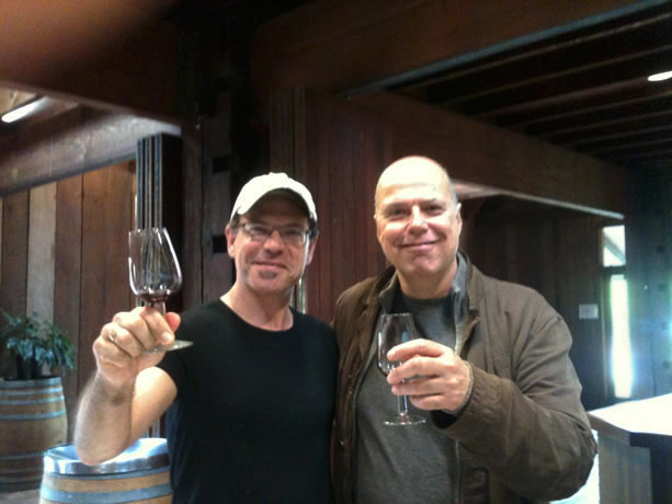 Kurt Elling and Shep tasting in Australia