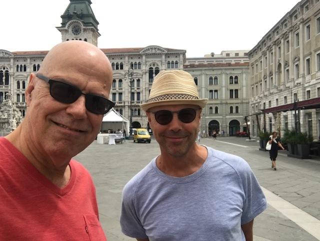 John Beasley & Shep in Trieste, Dr Um Tour though Italy 2017