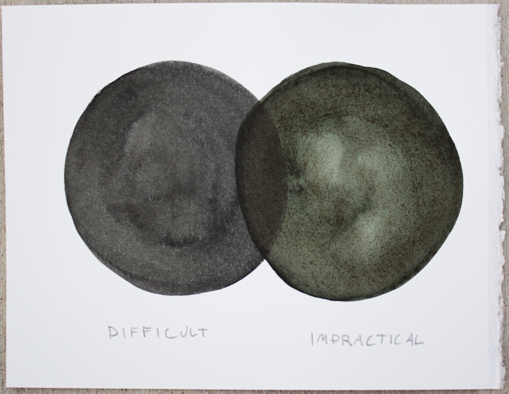 Untitled (Difficult ...) , watercolor and graphite on Somerset, 6.25 x 8 in., 2017