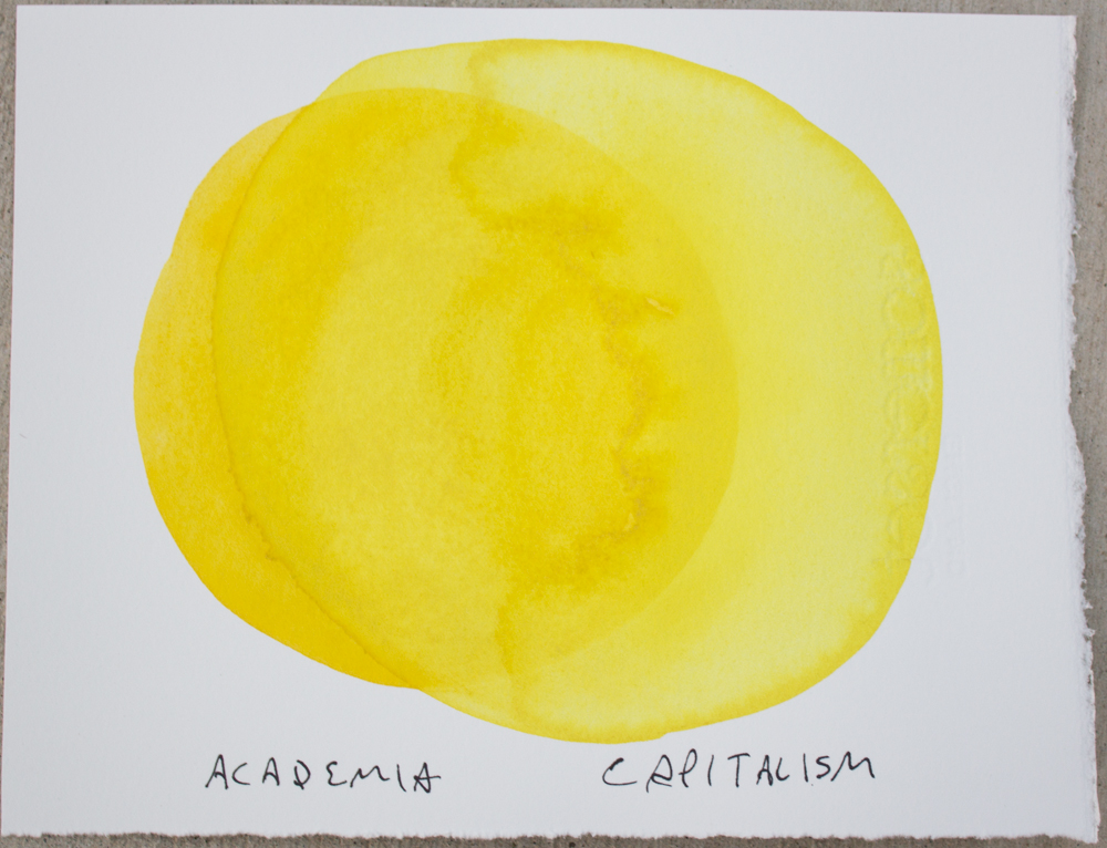 Untitled (Academia ...) , watercolor and ink on Somerset, 6.25 x 8 in., 2017