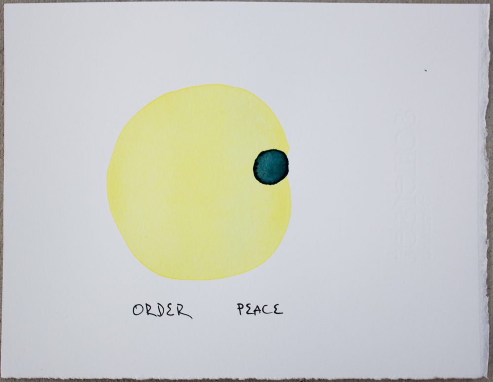 Untitled (Order ...) , watercolor and ink on Somerset, 6.25 x 8 in., 2018