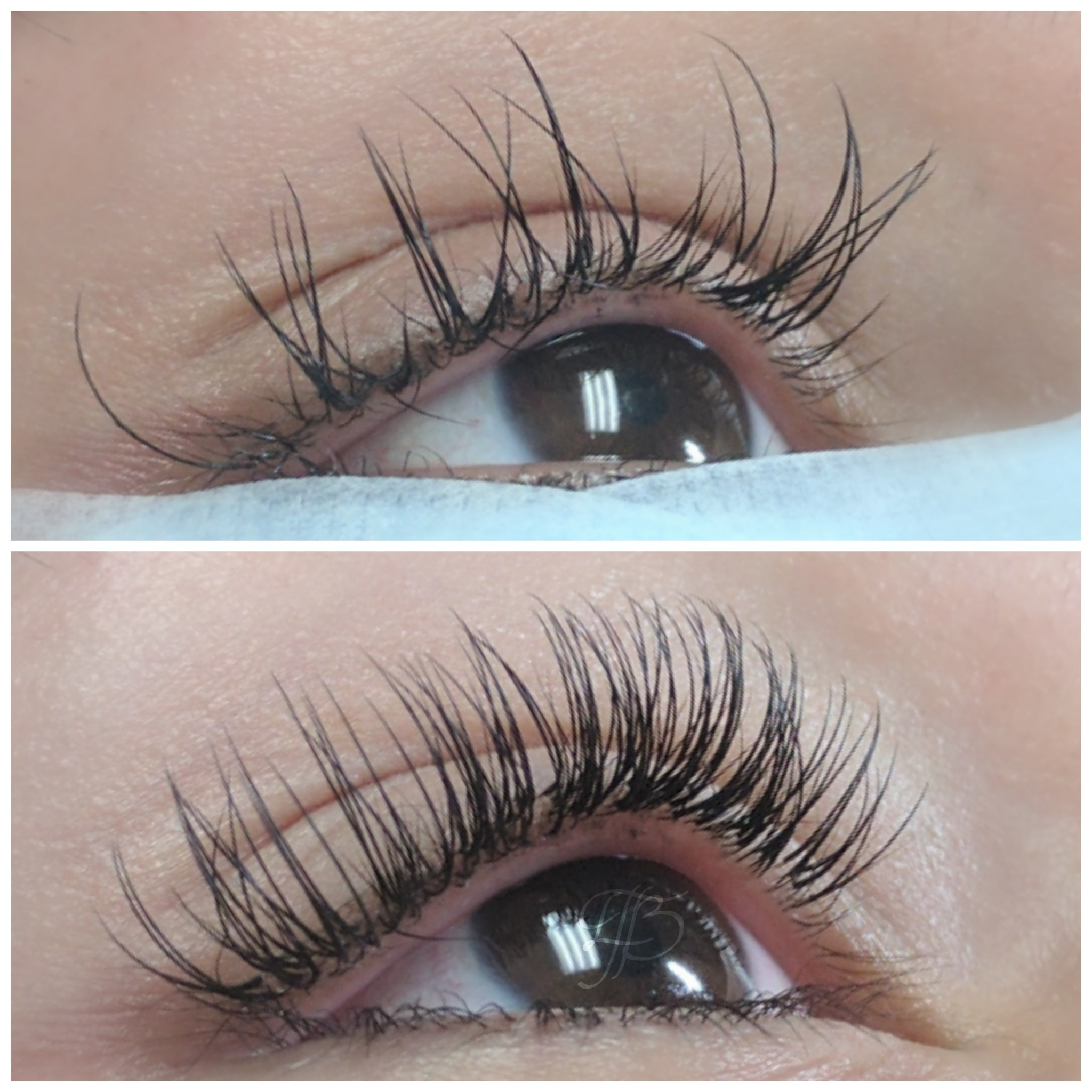 before:  lash extensions by another artist   after:  Removal + Classic Full Set by The Studio