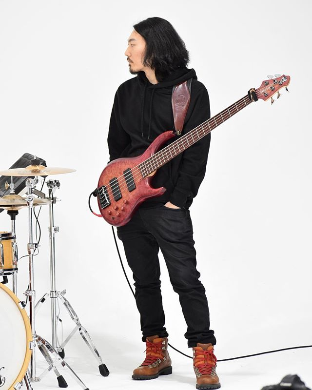 #bass #music #bassist #asian #longhair #japanese #chilling #timberland #hoodie #mtdbass #labellastrings #dairyfree #greenpoint #brooklyn #newyork