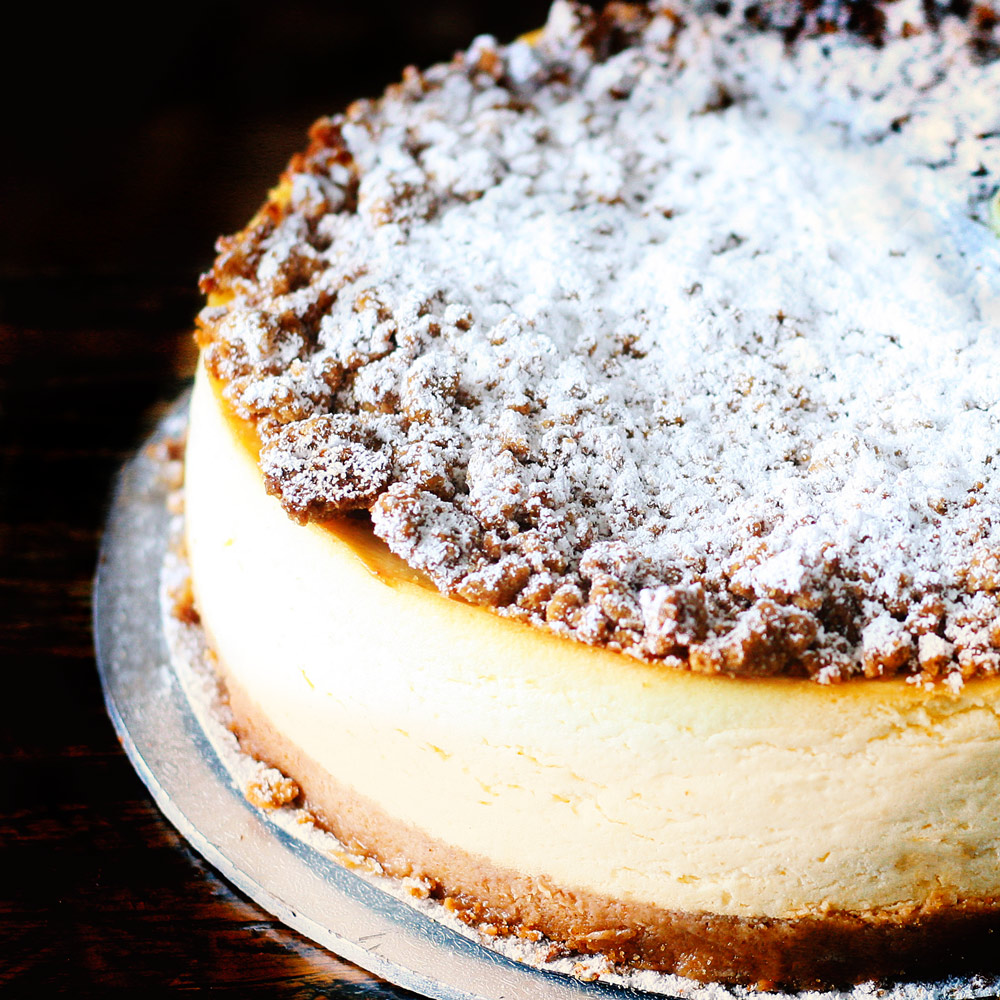 Ricotta Almond New York Baked Cheesecake -  Whole: $26.90 / Half: $15.00