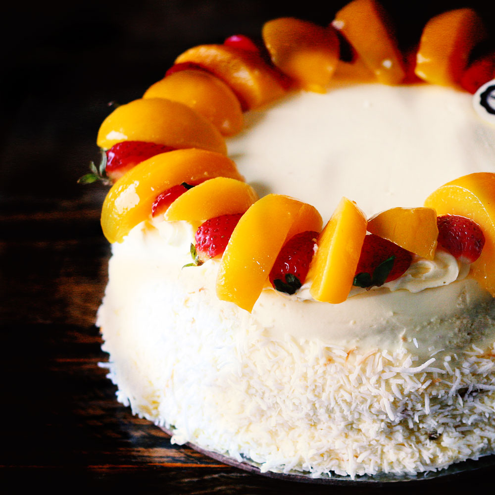Tropical Paradise Cake -  Whole: $25.90 / Half: $14.50