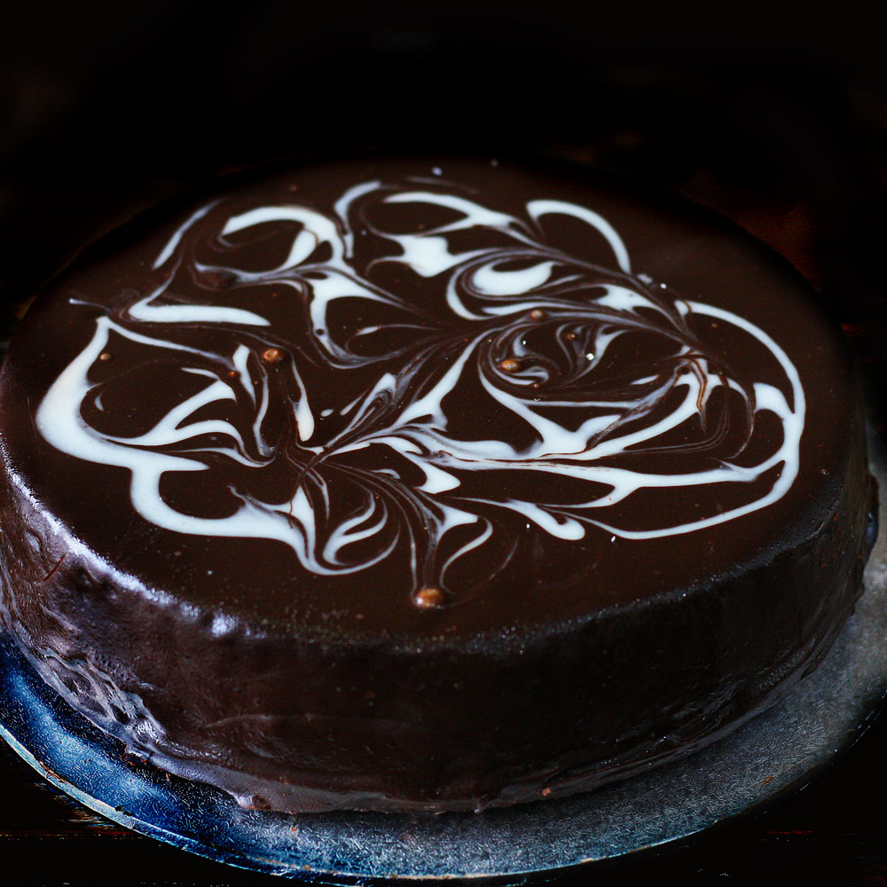 Chocolate Vanilla Mud Cake -  Whole: $24.90 / Half: $14.00