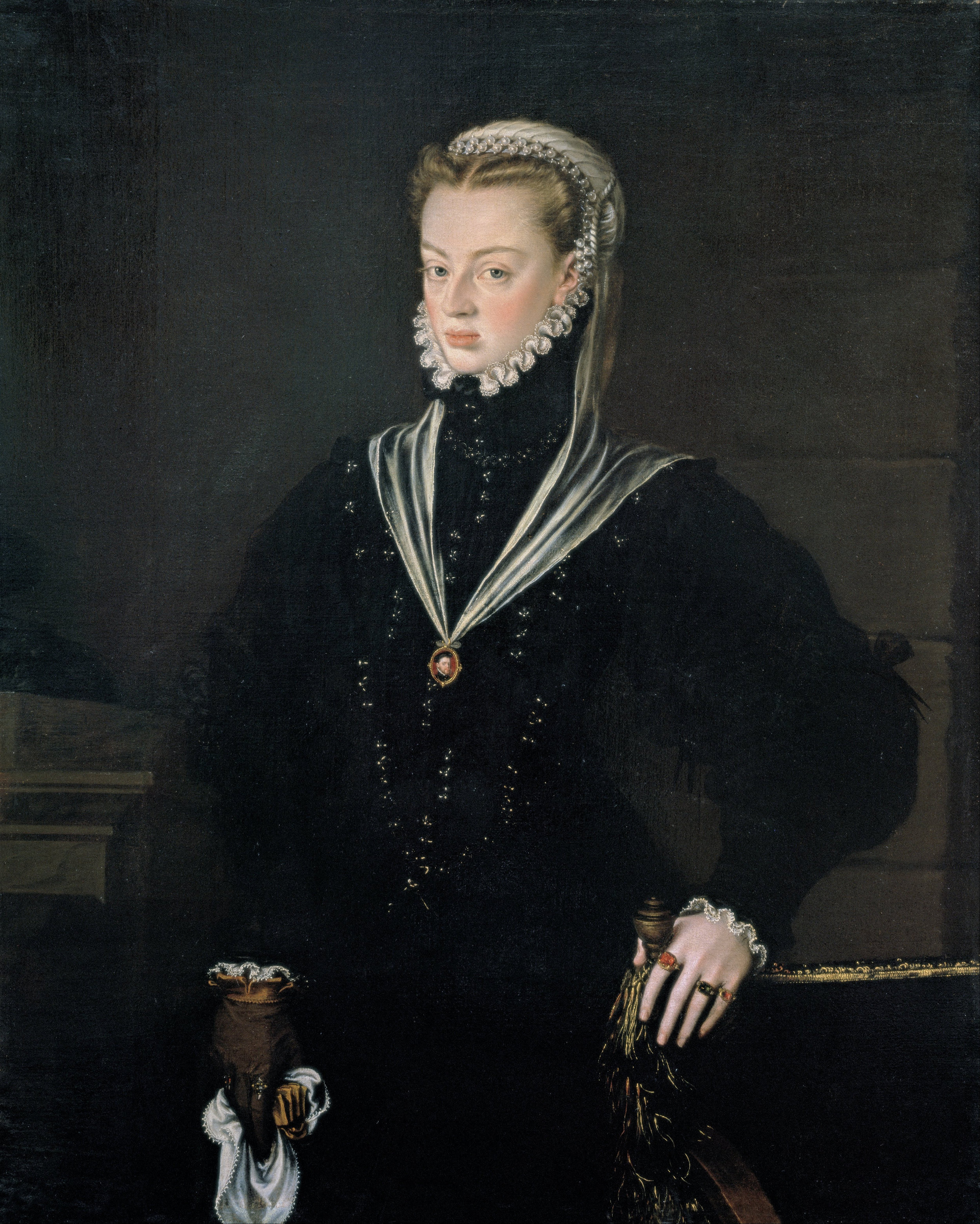 Portrait of Juana by Alonso Sánchez Coello, c. 1557.