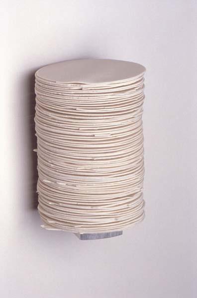 "The Color of Communion, no. 1, 2003  Porcelain and Aluminum,5"" x 4"" x 4"""