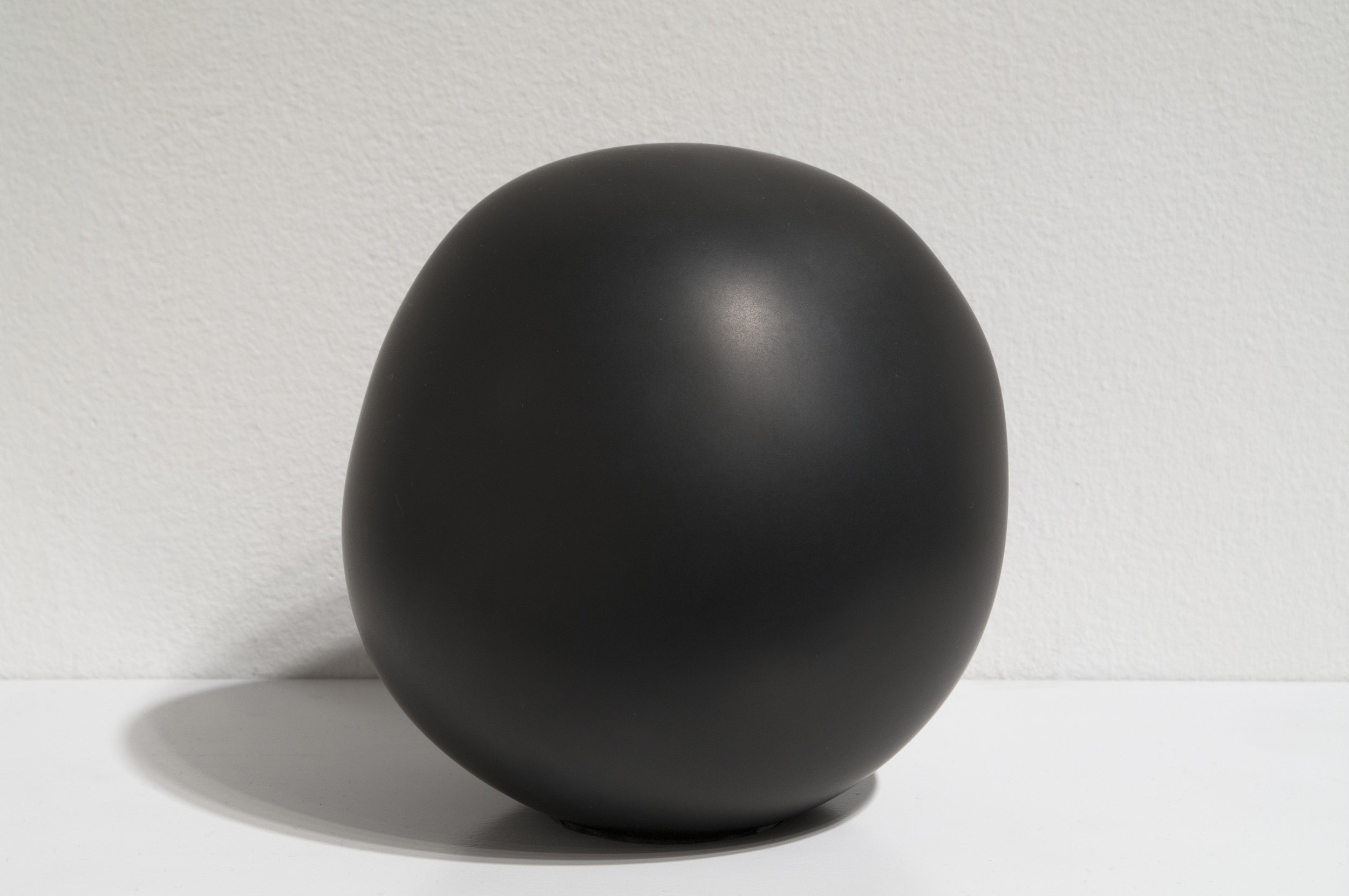 """Daily Practice, Sphere, no. 26, 2010  5"""" x 4"""" x 4.25"""", Solid graphite"""