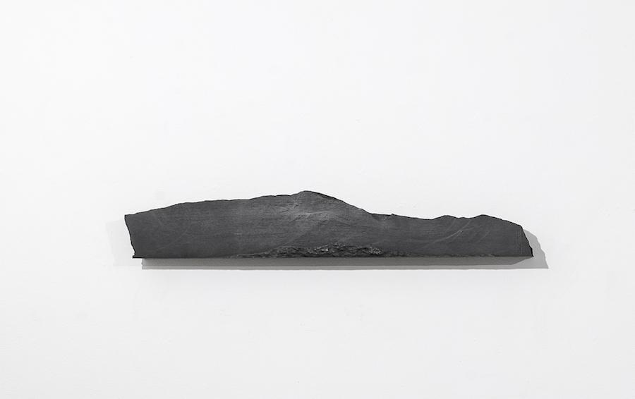 "Foundation II, no.1, 2017  Solid graphite,48""x 8"" x 5""  Photo: Maris Hutchinson/EPW Studio; courtesy of The Drawing Center"