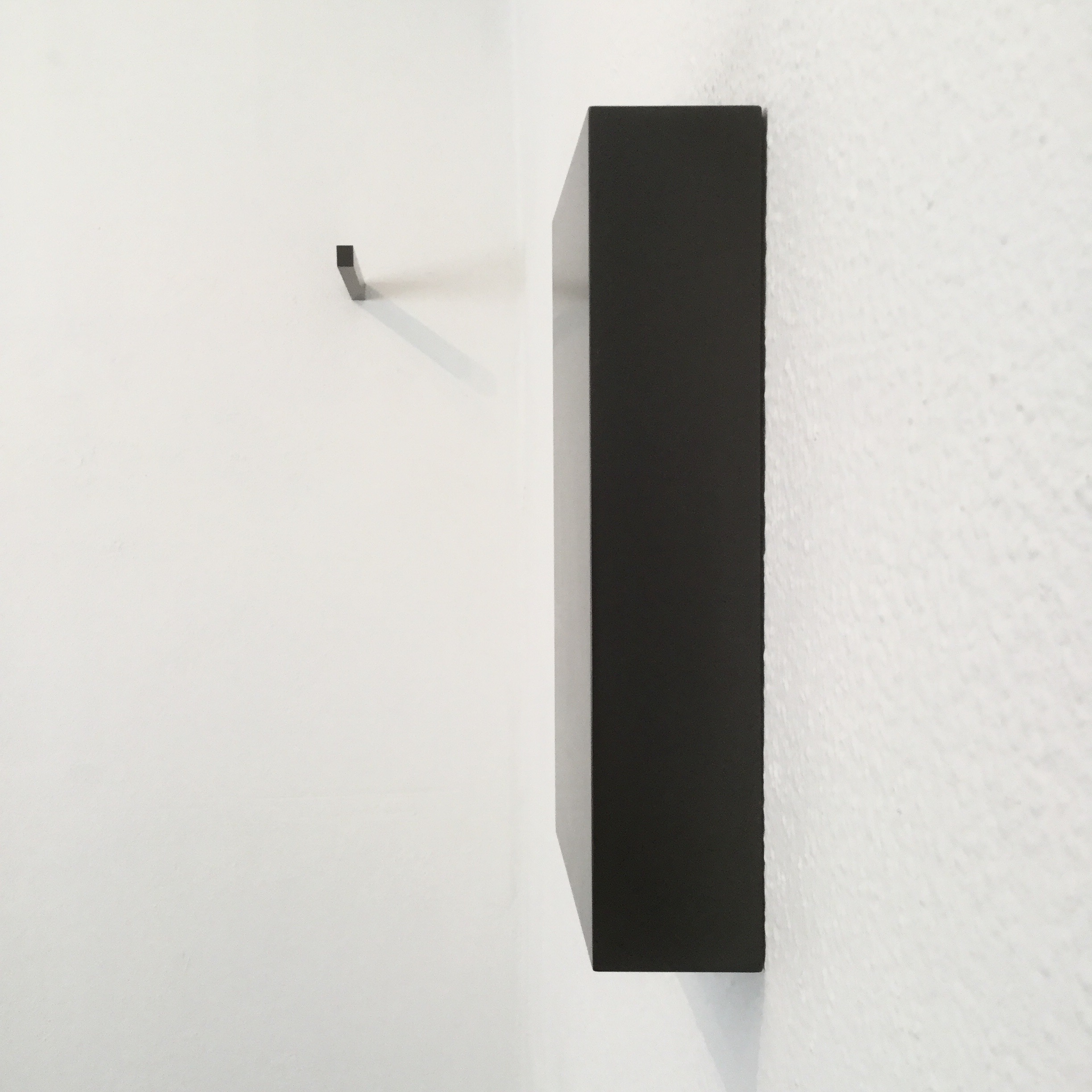 exhibitions 2d, 2015 (installation view)  Dimensions variable, Solid graphite