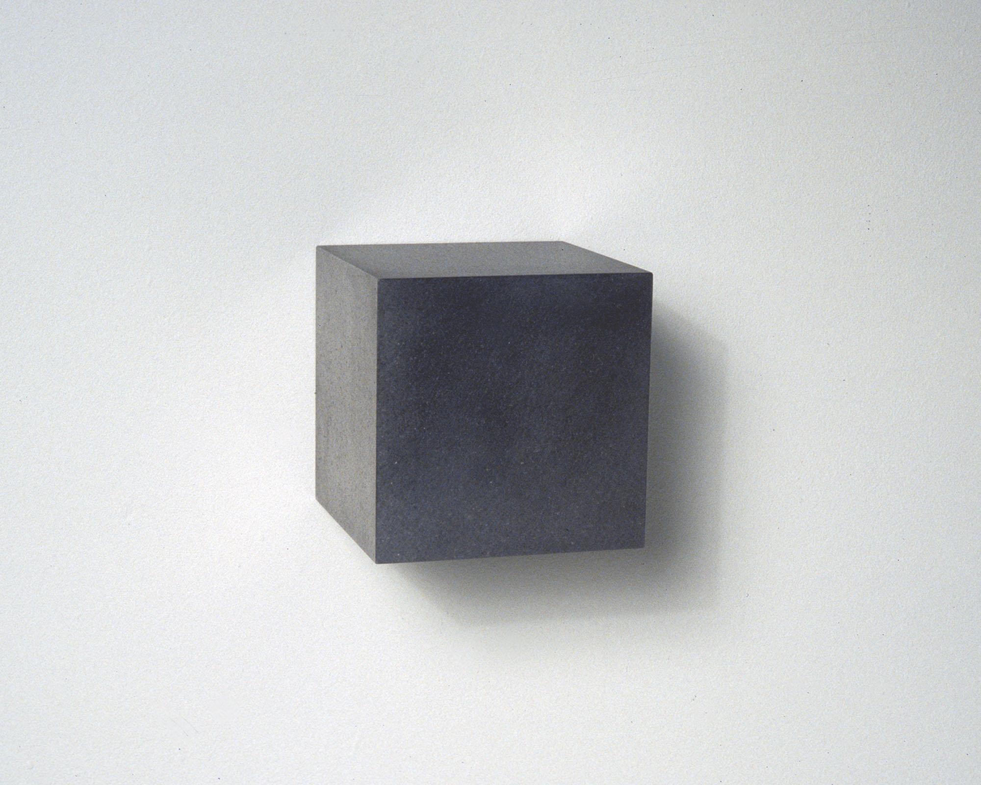 """Untitled, Graphite Cube, no. 4, 2006  Solid graphite,4"""" x 4"""" x 4"""""""