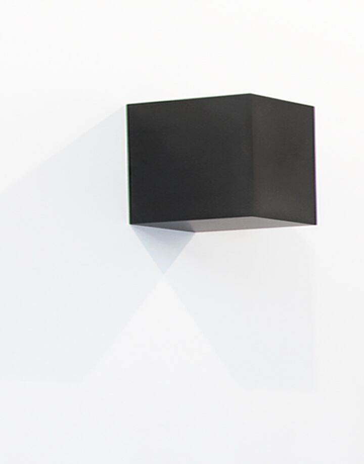 """Untitled (Rectilinear Solid), 2015  Solid graphite,4"""" x 3"""" x 4"""""""