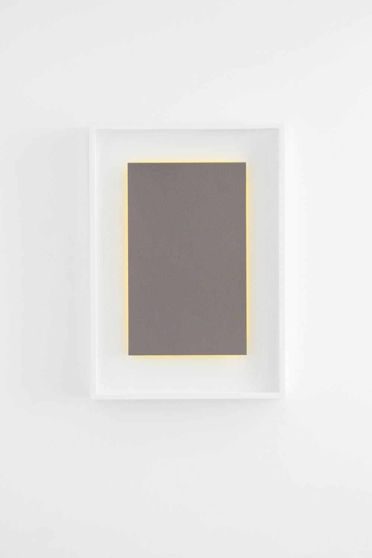 "Achromatopsia I (yellow), Edition of 20, 2015  Double-sided, 2-color lithograph, 15.88"" x 9.75"" (paper size)  Collaborating Printer: Bill Lagattuta @ Tamarind Institute"