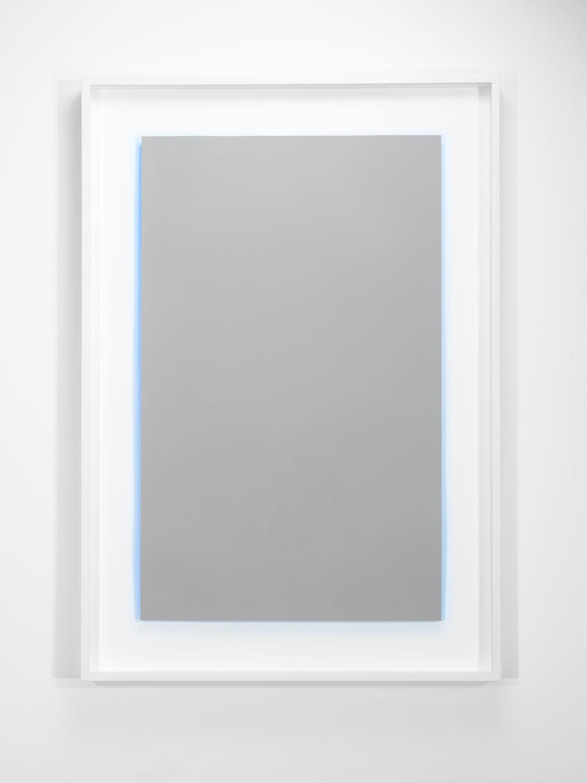 "Achromatopsia II (blue), Edition of 15, 2016  Double-sided, 2-color lithograph, 28"" x 17.75"" (paper size)  Collaborating Printer: Bill Lagattuta @ Interbang Press"