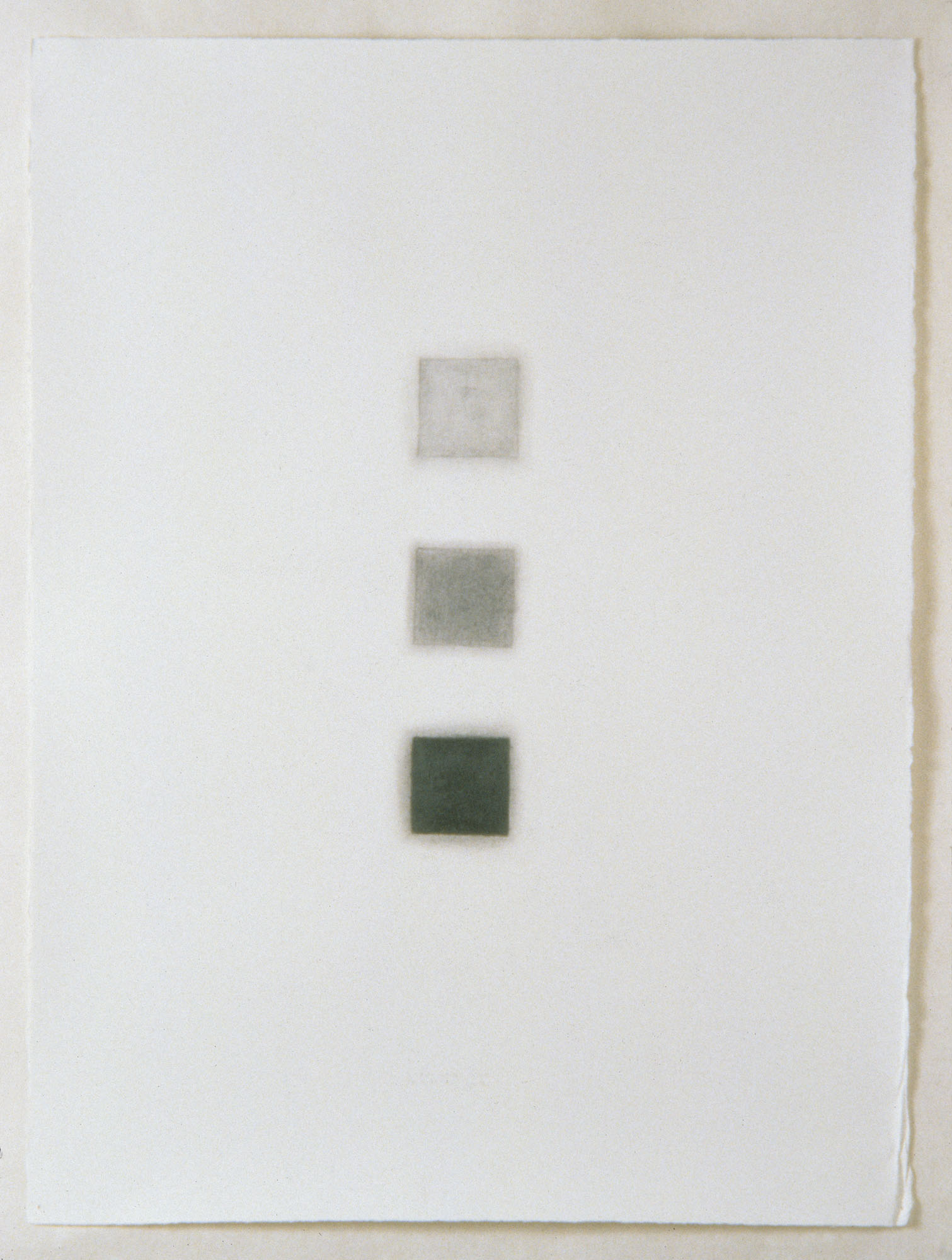"Untitled (aerial view of ekwc installations), 1997  Graphite pencil on paper, 30"" x 22"""