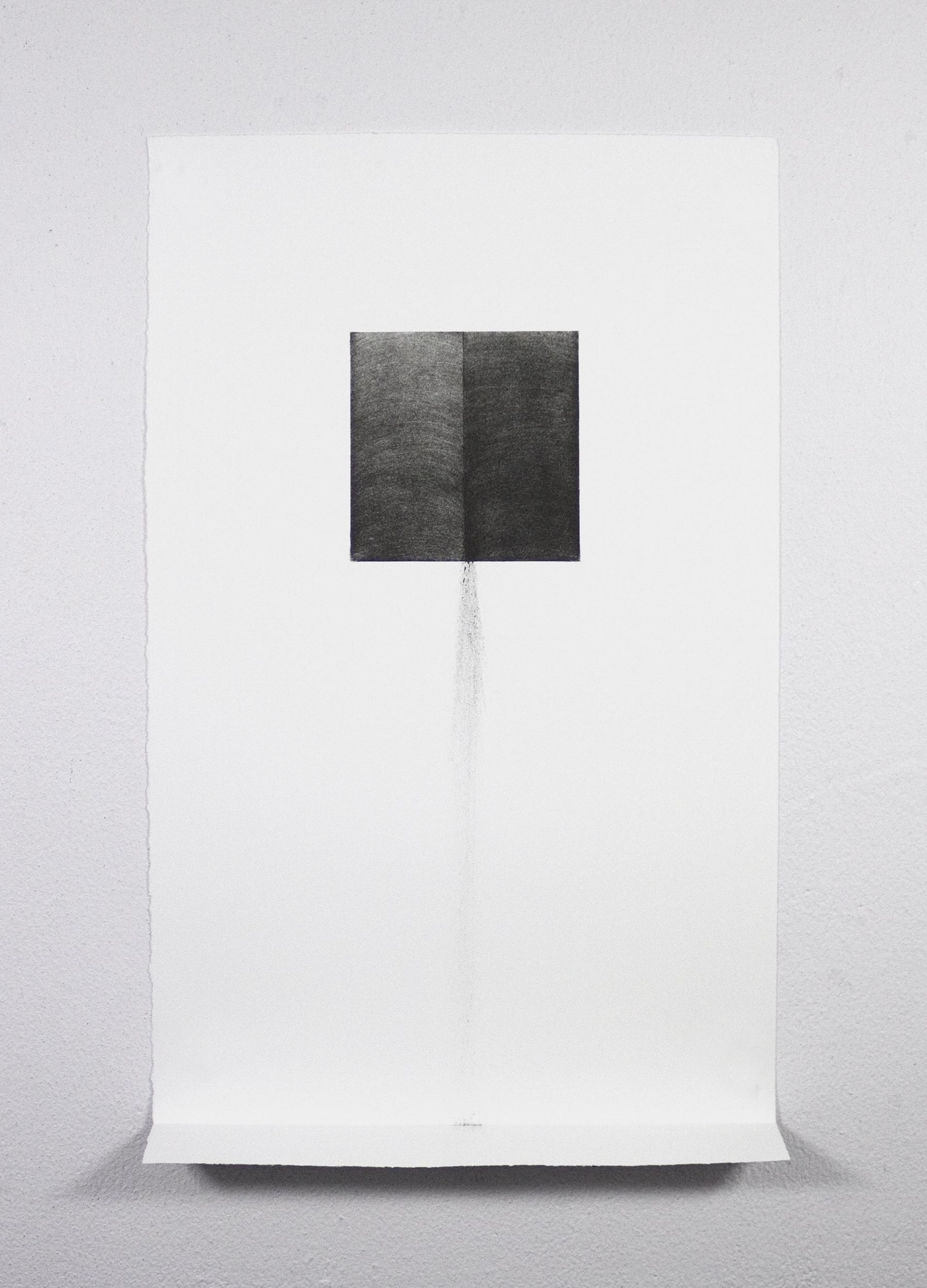 "Unfolding Gravity No.1, 2015  Single-color lithograph, Edition of 15, 17.5x11x1.5"" (Paper size), Framed size: 18.8"" x 13"" x 2.5"",  Contributing Printer: Bill Lagattuta at Tamarind Institute"