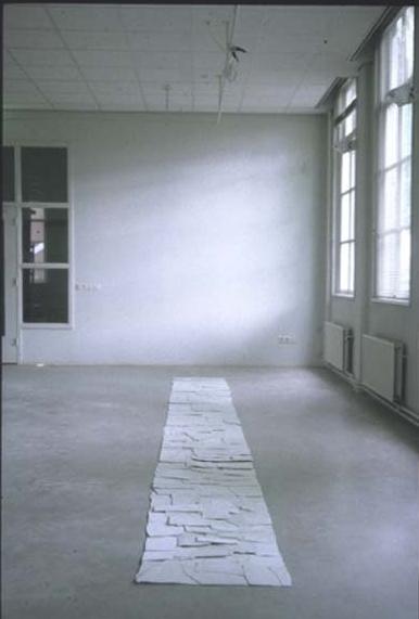 Perceived as a Rectangle, s'Hertogenbosch, NL, 1997  Porcelain,20' x 2', 6m x .5m
