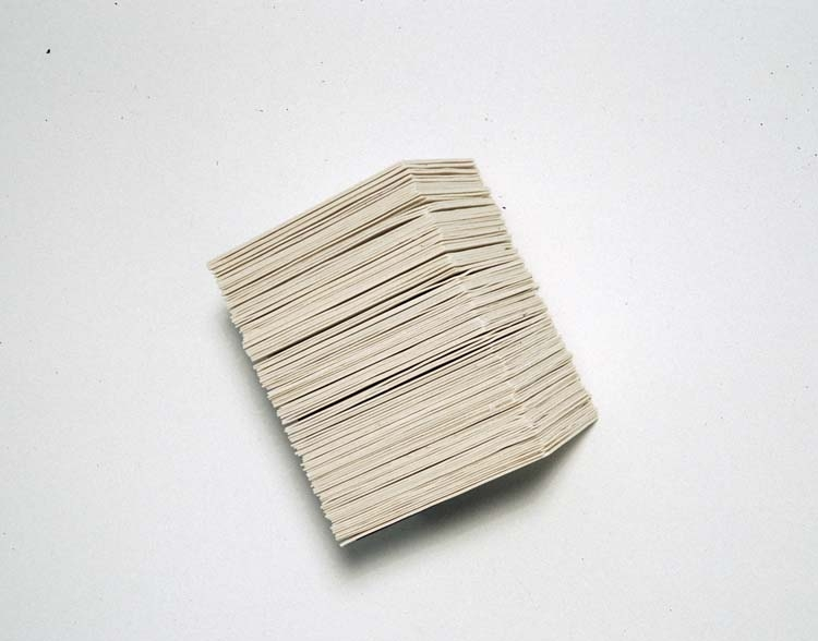 """Angle of Repose no. 2, 2005  Porcelain and Steel,6"""" x 8"""" x 5"""""""