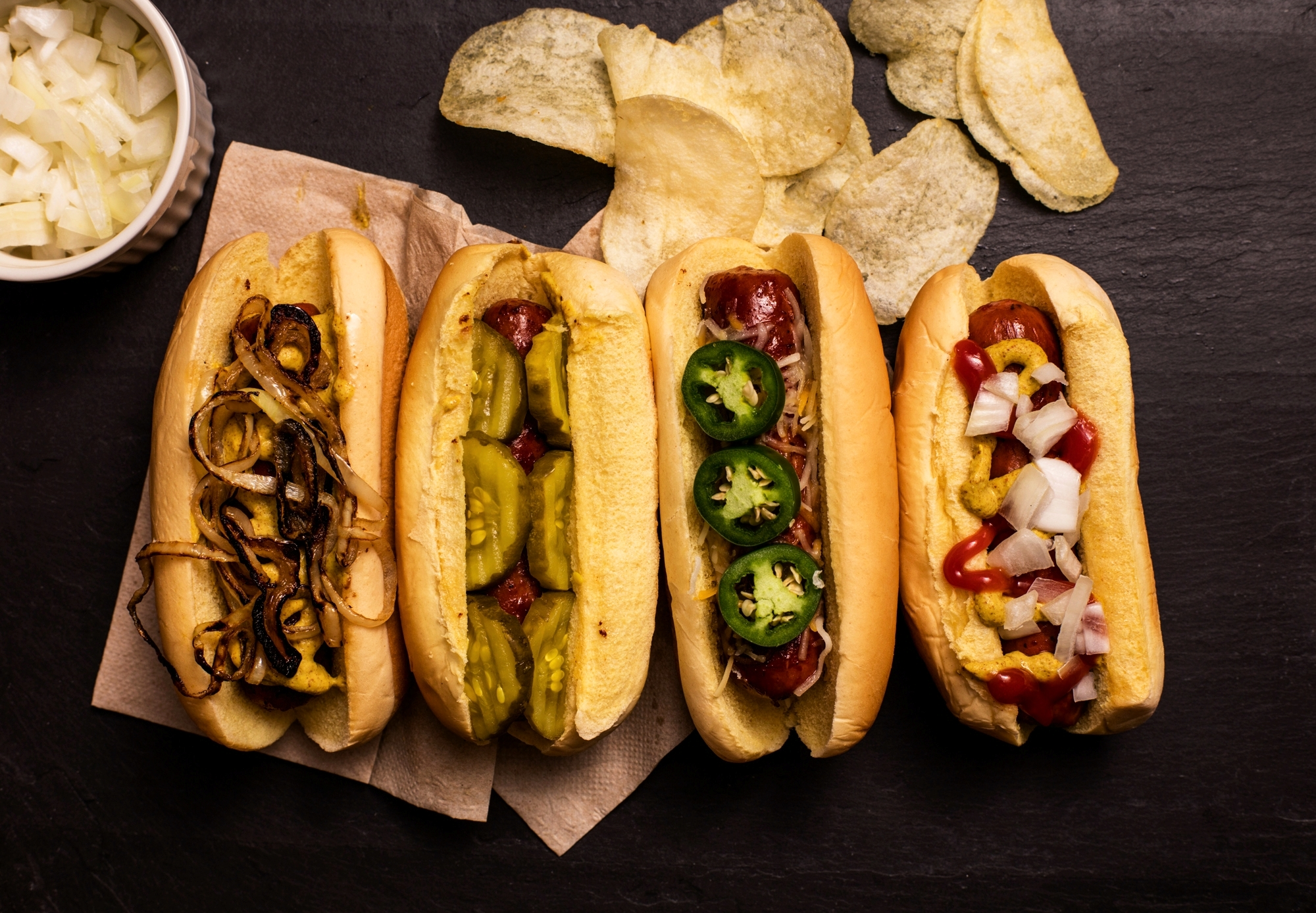 Four-Hot-Dogs,-Top-Down-521211070_8180x5675.jpg