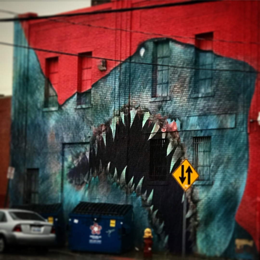 Shark Mural, Eastern Market, Detroit, Michigan, 2018.