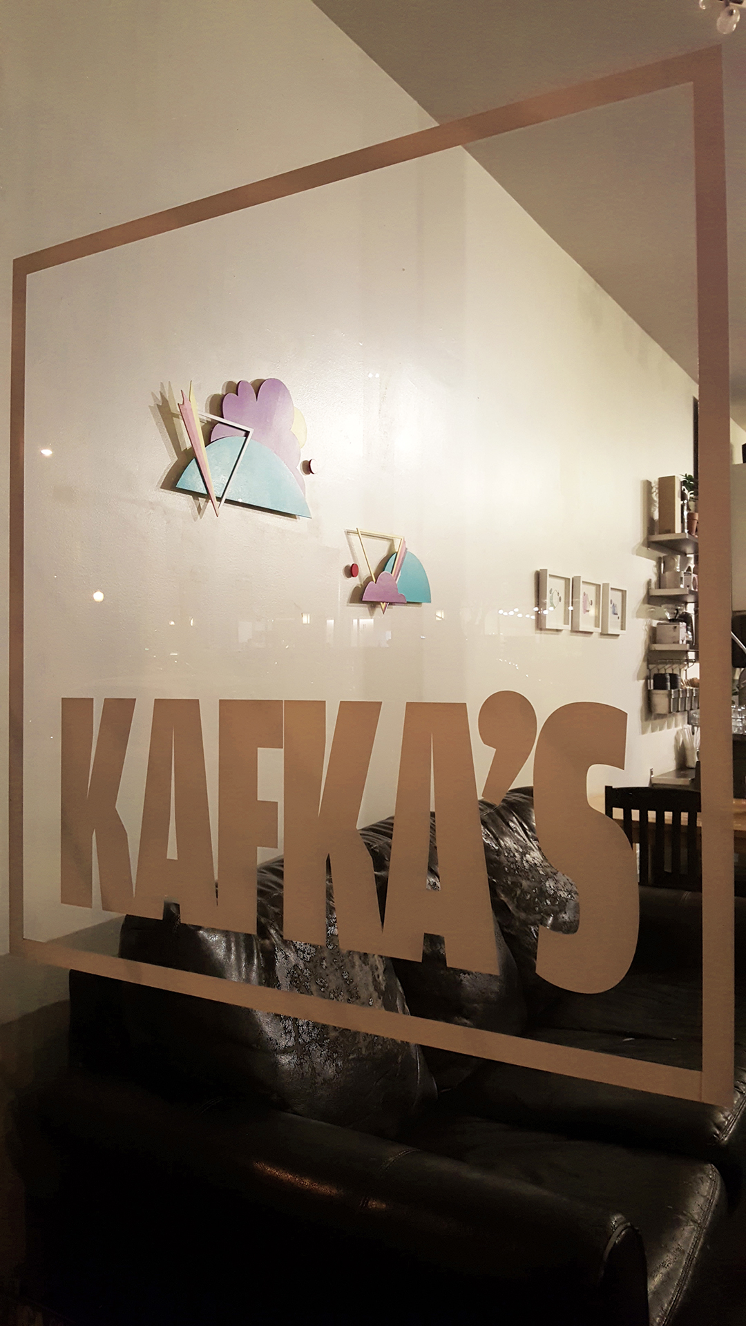 I've Gazed Along the Open Road, #1 & #2  installed at Kafka's on Main Street, Vancouver
