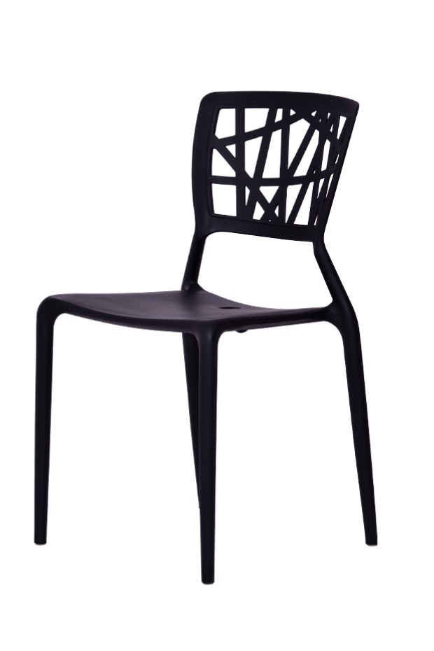 Black Cafe Chair, Black Restaurant Chair, Black Outdoor Chair,