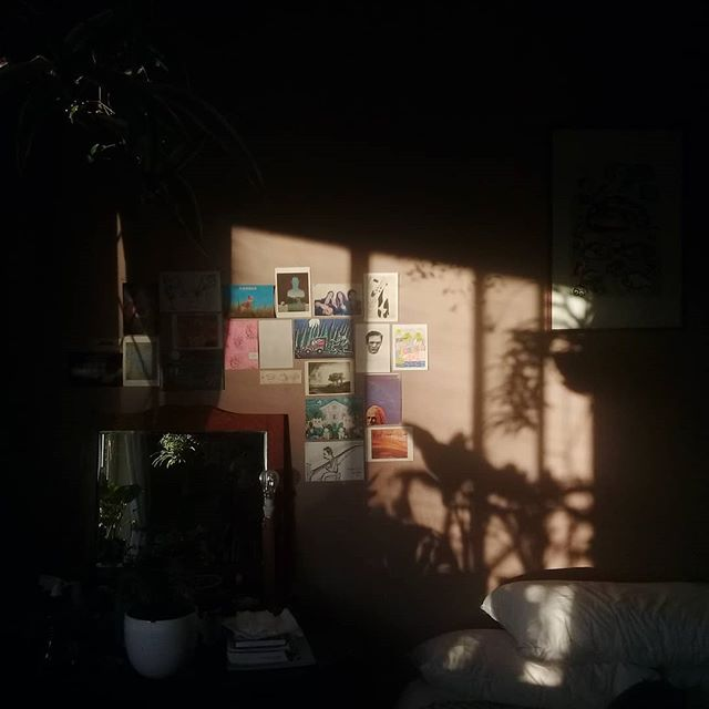 Shadow, light and postcards.