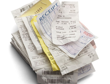 Is this your world - a pile of receipts and invoices?