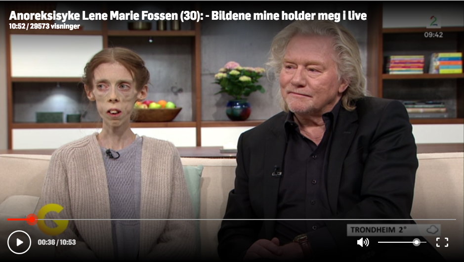 TV2 - 28.03.2017 - Morten Krogvold about Lene Marie Fossen on TV2 before Nordic Light festival in Kristiansund: - She is extremely gifted, and is probably the biggest photography talent in Norway.