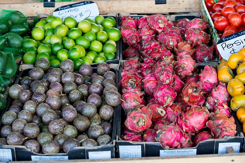Colour in abundance at Byron Farmers' Markets!