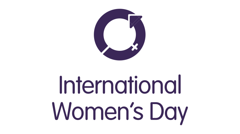The official logo of International Women's Day.
