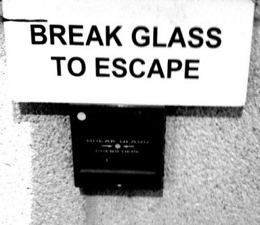 Break glass to escape    by Mike via Flickr    (CC BY 2.0)