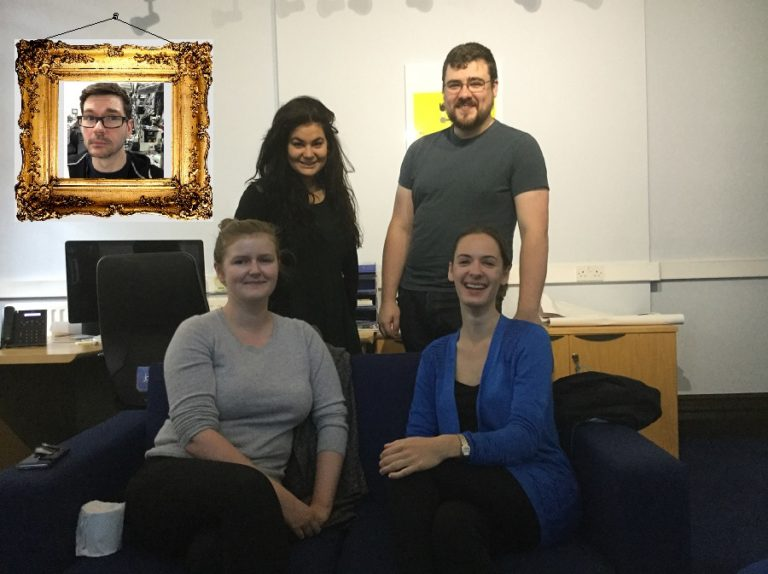 Fighting back the tears at our final Blogger Meeting. Yes, we do really have a painting of Stuart hanging in our office (…sadly I didn't acquire any Photoshop skills during my time as a blogger). He couldn't make the meeting, as he and his partner just had a baby! Congrats Stuart!