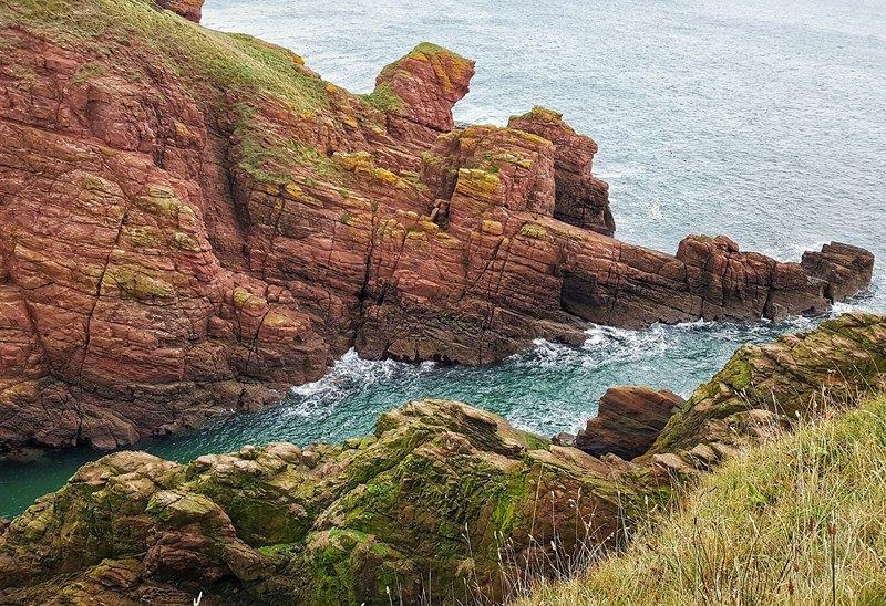 Cliffs near Arbroath on the East Coast.