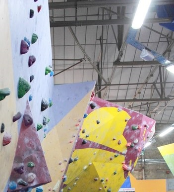 Different wall angles and selection of problems at the TCA. Photo Bianca Sala