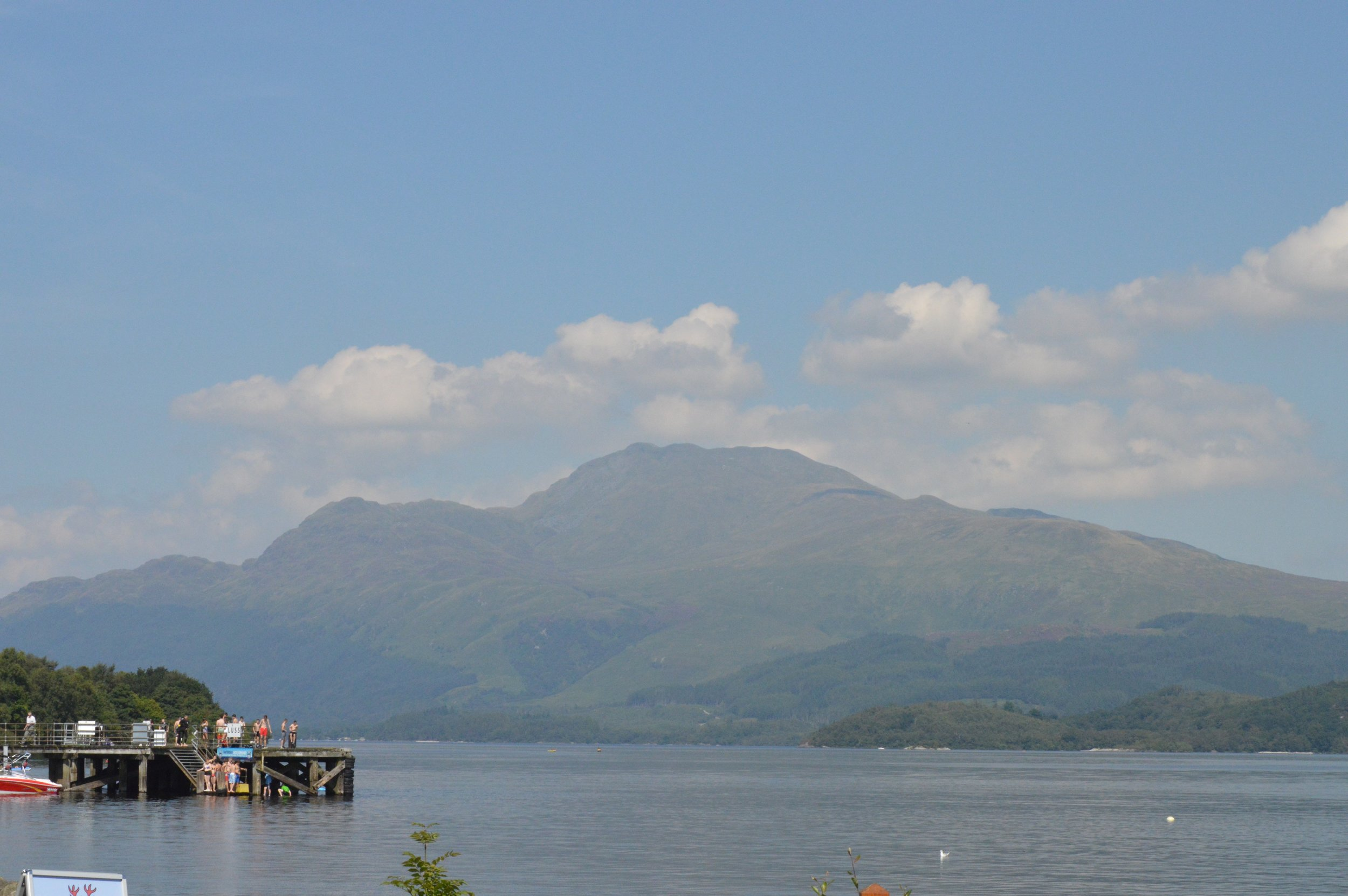 The view from the small beach at Luss