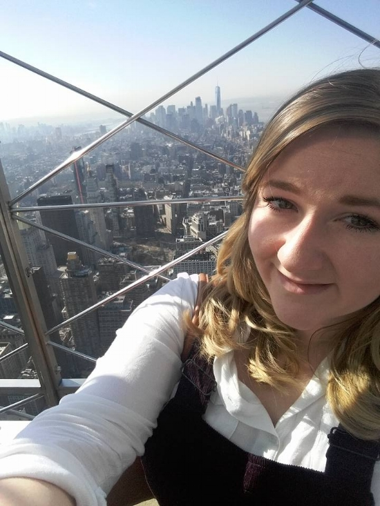 A very 'basic' holiday selfie atop the Empire State Building, New York City.