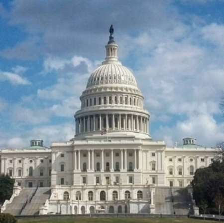 The Capitol building, Washington, DC.