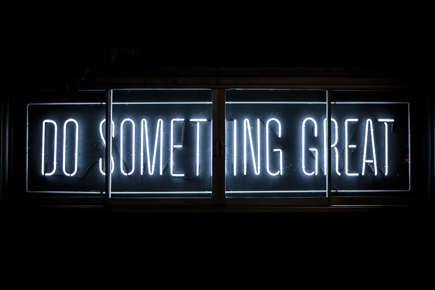 'Do Something Great' Neon Sign. Photo by  Clark Tibbs  on  Unsplash