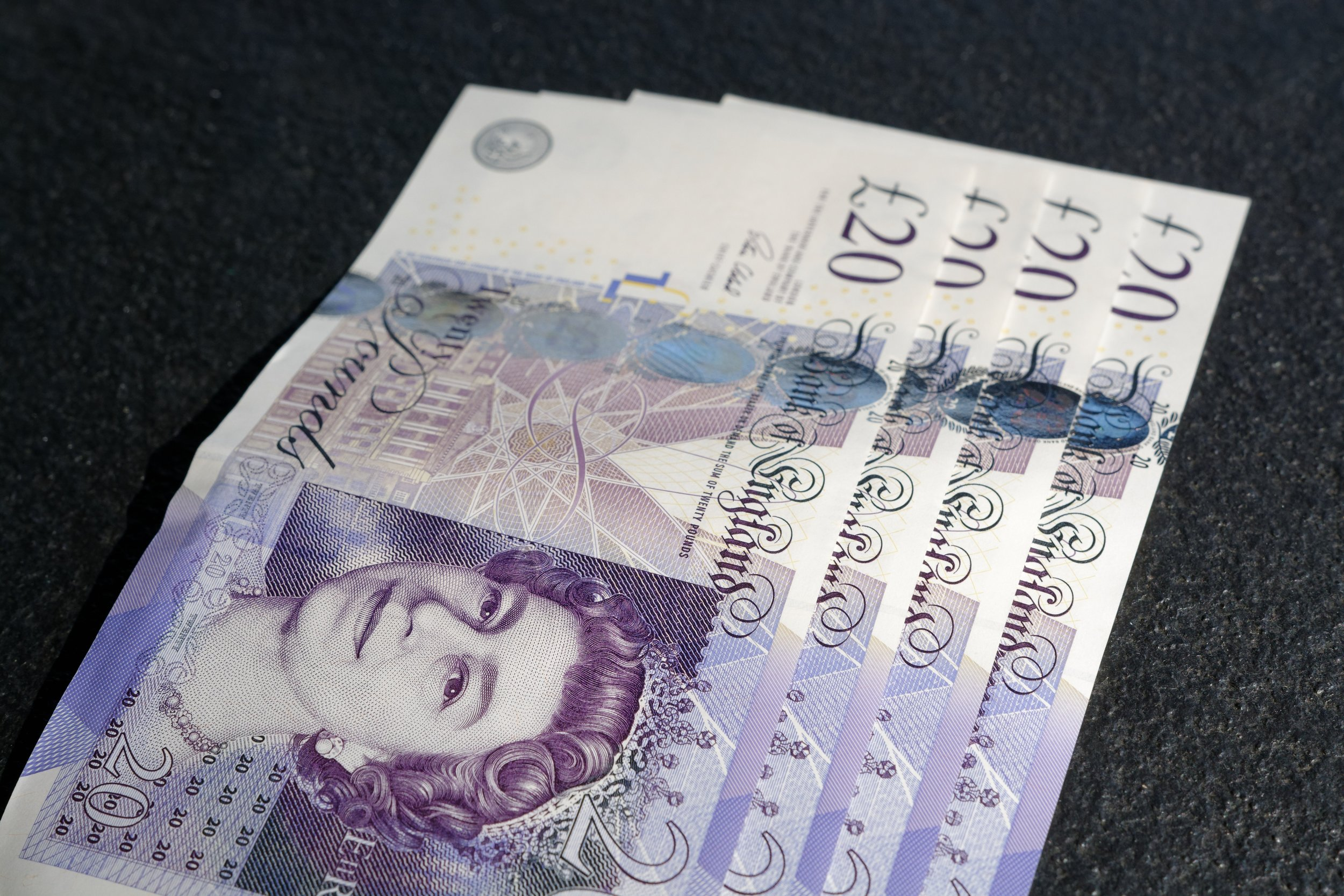 Bunch of £20 notes