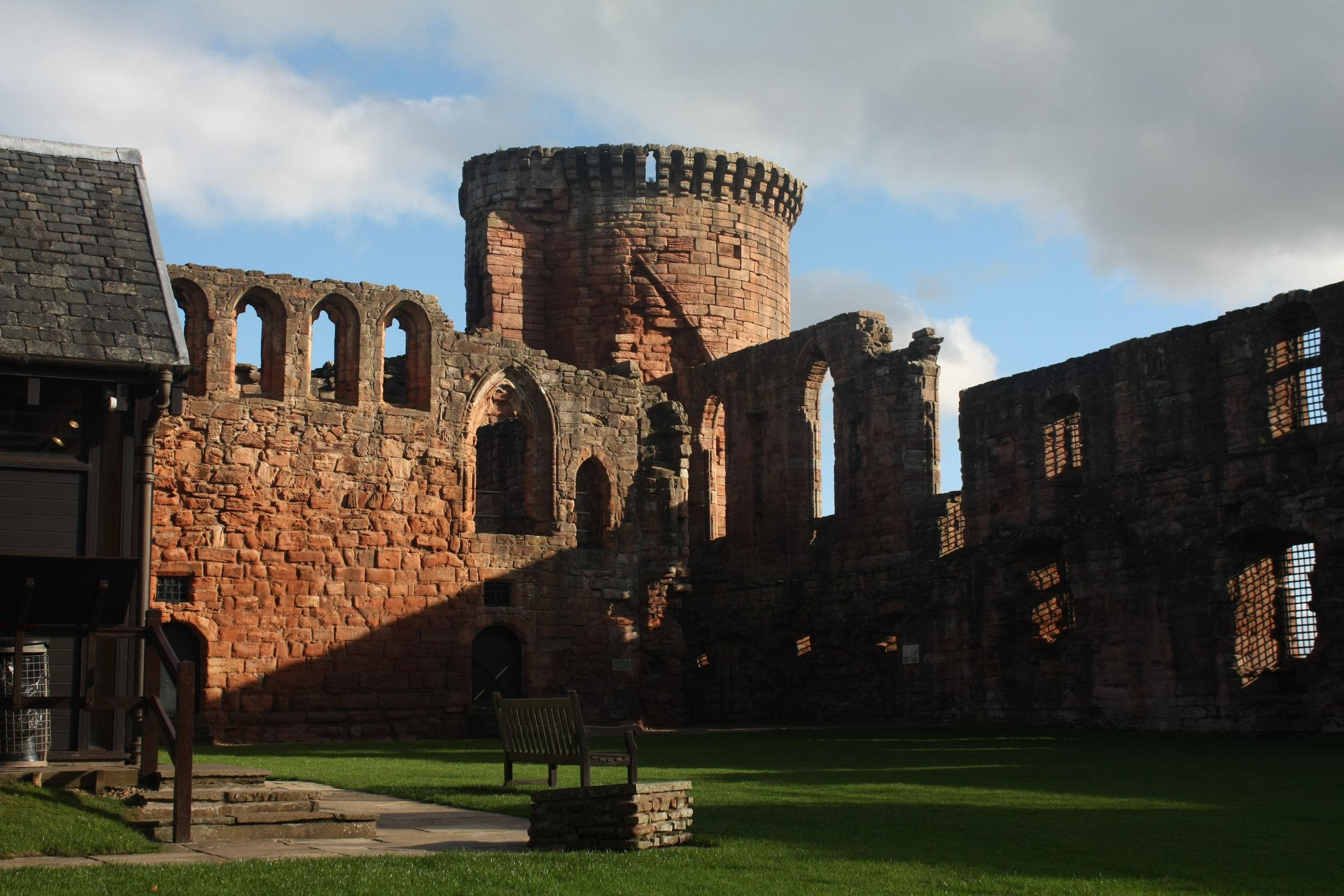 Interior of Bothwell Castle